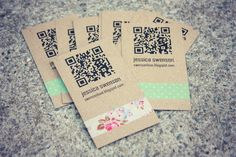 Do-It-Yourself Business Cards...blinged up with washi