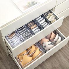 Bra Storage, Underwear Storage, Underwear Organization, Closet Storage, Storage Boxes, Storage Ideas, Cabinet Closet, Drawer Storage, Bedroom Storage Hacks