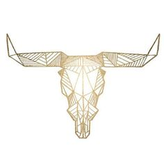 "This outline of a bull using geometric shapes would look great anywhere on your body! Sheet Size: 2.5"" x 3.5"" - Lasts 5-7 days even with swimming and bathing! - Easy to put on and easy to remove! - Sk"