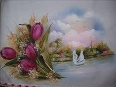 Fabric Painting, Colored Pencils, Folk Art, Decoupage, Flower Paintings, Tutu, Beautiful Paintings, Diy And Crafts, Farmhouse Rugs