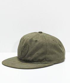 Official JR Pitch Olive Suede Strapback Hat 11a7537ba41c