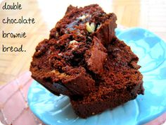 Double chocolate brownie bread [tried: with carob, without white chocolate, still delicious]