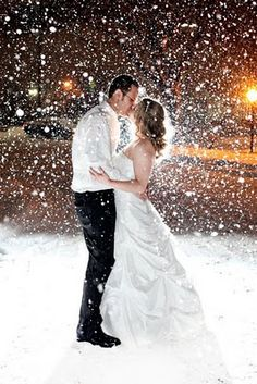 I would freeze outside for a picture like this! Lets hope it snows on your wedding day so we can take a picture like this!  I really hope that it snows if I have a winter wedding!