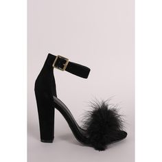 Shoe Republic Faux Fur Ankle Strap Dress Heel | UrbanOG ($39) ❤ liked on Polyvore featuring shoes, shoe republic la, decorating shoes, faux fur shoes and embellished shoes