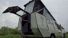 KoMa Cruiser Adimax mit pneumatischem Hubdach und Heck-Einstieg ... Basis: Toyota J8 Toyota, Outdoor Gear, Tent, Rolling Stock, Cabin Tent