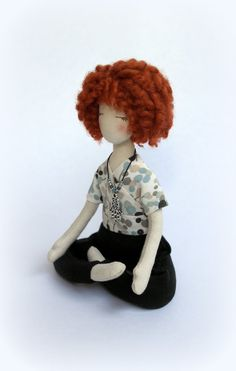 Items similar to Personalized doll Yoga doll Customized doll Yoga teacher Soft sculpture Yogini rag doll Fabric collectible doll Ambient cillout decor Ashley on Etsy Doll Sewing Patterns, Doll Repaint, Embroidery Hoop Art, Collector Dolls, Soft Sculpture, Custom Dolls, Fabric Dolls, Yoga Teacher, Doll Toys