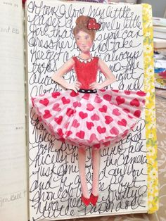 he{ART}s — Serendipity Studios.  Adorable!  The skirt is made from cupcake papers