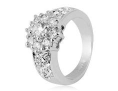 Amazon.com: Annas Favorite Rigant 18K RGP Alloy Ring Eye-Catching Sz 8 (White Gold): Toys & Games