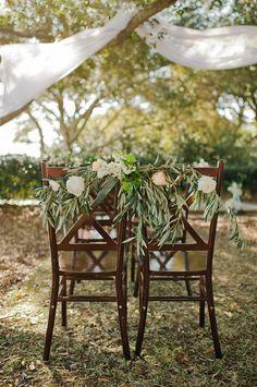 pretty chair garlands | Faith Teasley #wedding
