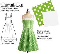 MTL: Lime in Love Dress