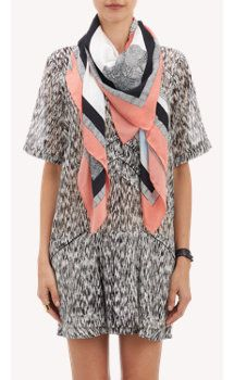 °★ ☽ FORGET ME NOT ☾ ★ °  Abstract Geometric Scarf