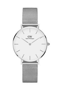 Daniel Wellington Inc. Petit White Sterling 32mm Watch in Silver