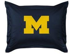 Michigan Wolverines Pillow Sham - LR