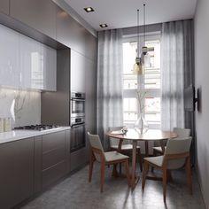 Фотография in 2019 Luxury Kitchen Design, Kitchen Room Design, Home Decor Kitchen, Kitchen Interior, Interior Design Living Room, Living Room Decor, Küchen Design, House Design, Kitchen Colour Combination