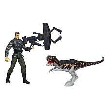 Jurassic Park Dino Trackers Tyrannosaurus Rex vs. Ground Patrol Set