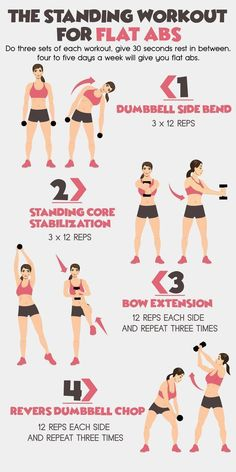 Lean Standing workouts for flat abs. – body building – fitness routines – fitness and diet – diet and weight loss Standing workouts for flat abs. – body building – fitness routines – fitness and diet – diet and weight loss Fitness Workouts, Fitness Workout For Women, Workout Exercises, Arm Workout Women With Weights, Upper Body Workout For Women, Weight Lifting Workouts, Workout For Girls, At Home Dumbell Workout, Exercises With Bands