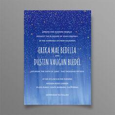 Starry Night Wedding Invitation Suite - Constellation Wedding Invitation