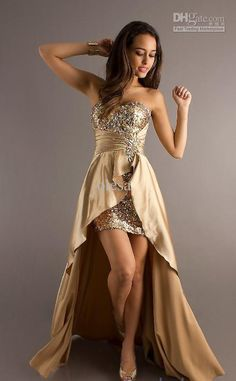 Gold prom dresses high low – Dress online uk