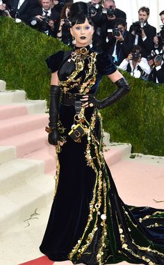 Katy Perry from Met Gala 2016: Red Carpet Arrivals/I think she read the theme as goth, over the top but I feel it