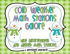 Cold Weather Math Stations Galore- cute activities $7