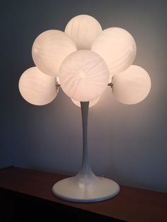 Max Bill Vtg Danish Mid Century Modern 9 Glass Globe Lamp Panton/Eames Era  | eBay
