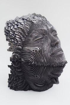 Flow: Stainless Steel Ribbon Sculptures by Gil Bruvel | Inspiration Grid | Design Inspiration