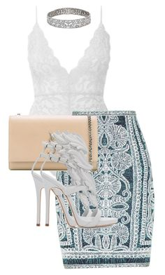 """✨✨"" by princess-maya13 ❤ liked on Polyvore featuring Hervé Léger, Yves Saint Laurent and Giuseppe Zanotti"