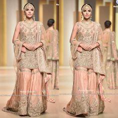 """267 Likes, 7 Comments - Pakistani Bridal Couture (@pakistanibridalcouture) on Instagram: """"Ayesha Farid at QMobile Hum Bridal Couture Week 2017 #pakistanibridalcouture #pbcayeshafarid…"""""""