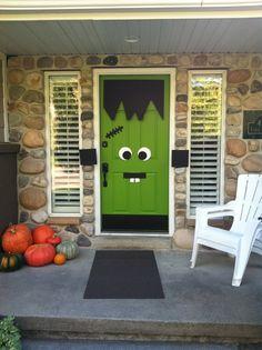 porte halloween5 & Frankenstein door | Halloween | Pinterest | Doors and Frankenstein