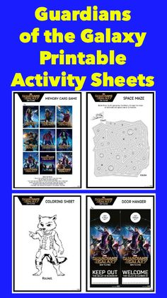 Guardians of the Galaxy Printable Activity Sheets - Thrifty Jinxy