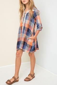 Girls Plaid Shirt Dress - Kids Cloth Box Big Kids Clothes 82124be5353e