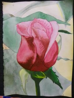 Student Art Work.  Watercolor on paper.