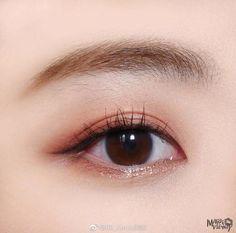 Asian Makeup Looks, Korean Makeup Look, Asian Eye Makeup, Blue Makeup, Girls Makeup, Eyebrow Makeup, Makeup Inspo, Makeup Inspiration, Makeup Tips