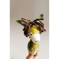Feodor Felt Donkey. Art Toy. Felted toy, Marionette, Puppet, Farm... (€91) ❤ liked on Polyvore featuring felt toy
