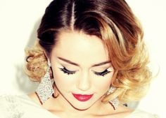 eye lashes#lips can you believe this is miley cyrus?