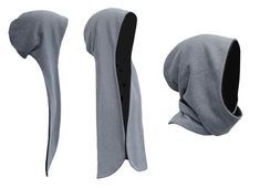 hooded scarf makin you look like the Grim Reaper