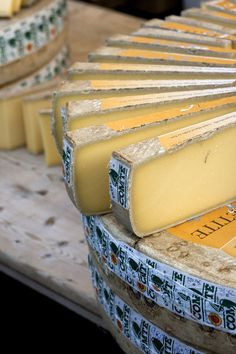 Comté, on of the best French cheese in my opinion Kinds Of Cheese, Best Cheese, Cheese Shop, Cheese Lover, Gouda, Charcuterie, Fromage Cheese, Comte Cheese, Camembert Cheese