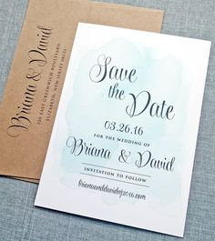 NEW Briana Green Watercolor Wedding Save the by CricketPrinting, $3.00