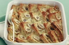 Banana Bread & Butter pudding - low fat, low GI and super easy to make!