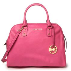 Pink Michael Kors Large Satchel.  This is gorgeous  #pink #handbag