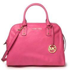 Pink Michael Kors Large Satchel.  This is gorgeous  #pink #handbag