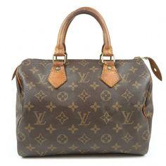 9cd08360f041 Authentic Louis Vuitton Monogram Speedy 25 Hand Bag Boston Bag M41528 Used  F S