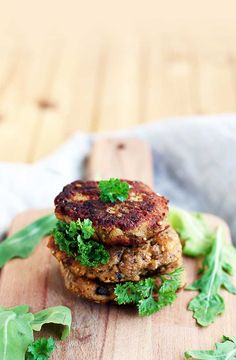 Eggplant Fritters with Mushrooms and Herbs | Gourmandelle