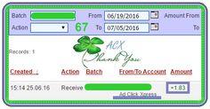 Here is my Withdrawal Proof from Ad Click Xpress. I get paid daily and I can withdraw daily. Online income is possible with ACX, who is definitely paying - no scam here. Thank You ACX!!!