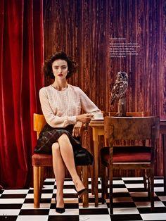 twin peaks: celia becker by jenny fredriksson for elle sweden september 2013