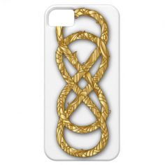 Woven Double Infinity in Gold on White - iPhone #doubleinfinity