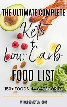 This Ultimate Keto Food List is the only one you'll ever need! It's organized into categories, and you can filter and sort. A Low Carb Food List Printable PDF version is also available. Low carb vegetables, fruit, meat, dairy, fats, and more.