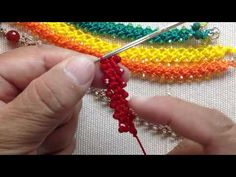 PULSERAS CROCHET PUNTO PETATILLO Y CRISTALES - YouTube Crochet Cord, Crochet Bracelet, Crochet Earrings, Crochet Classes, Crochet Projects, Easy Beading Tutorials, Beading Patterns, Crochet Patterns, Matching Couple Bracelets