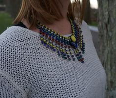 Rainbow-colored necklace
