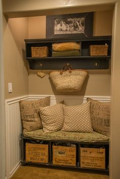 great idea for a entry closet